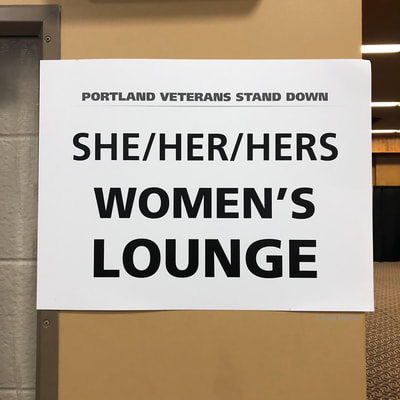 Sign for She/Her/Hers Women's Lounge